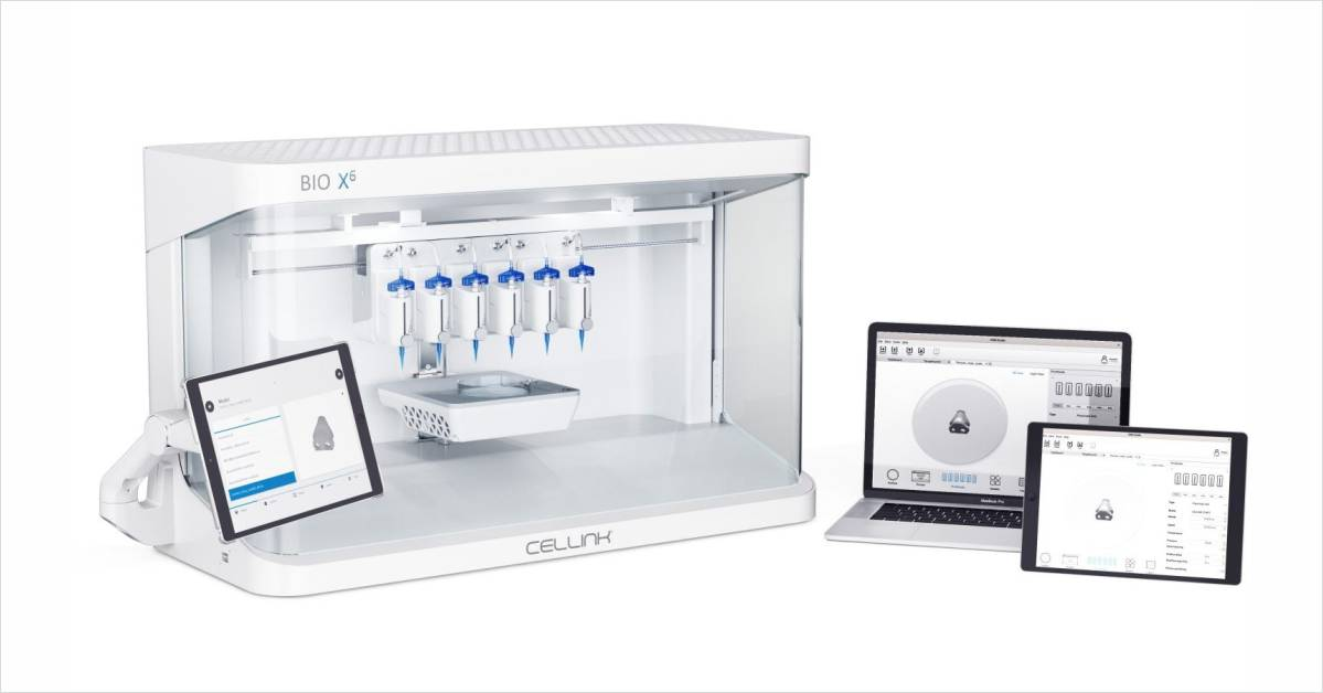 CELLINK Designed the Most Flexible Six-Printhead Bioprinting Platform on the Market