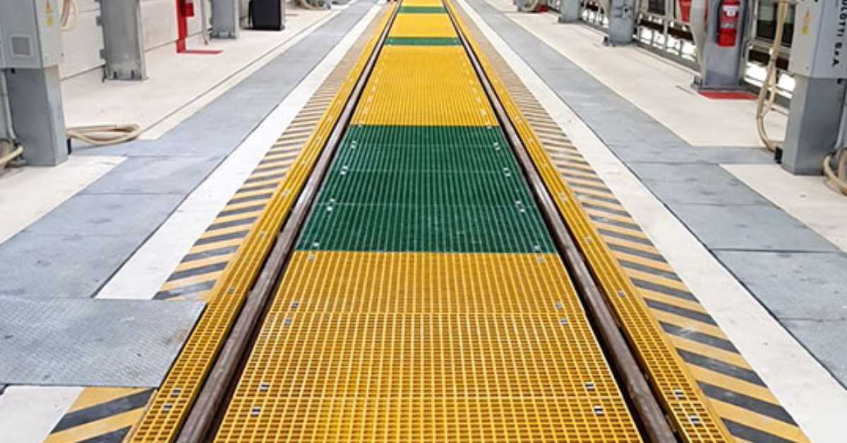 Grating FRP Australia provided FRP Panels for Light Rail Maintenance Centre