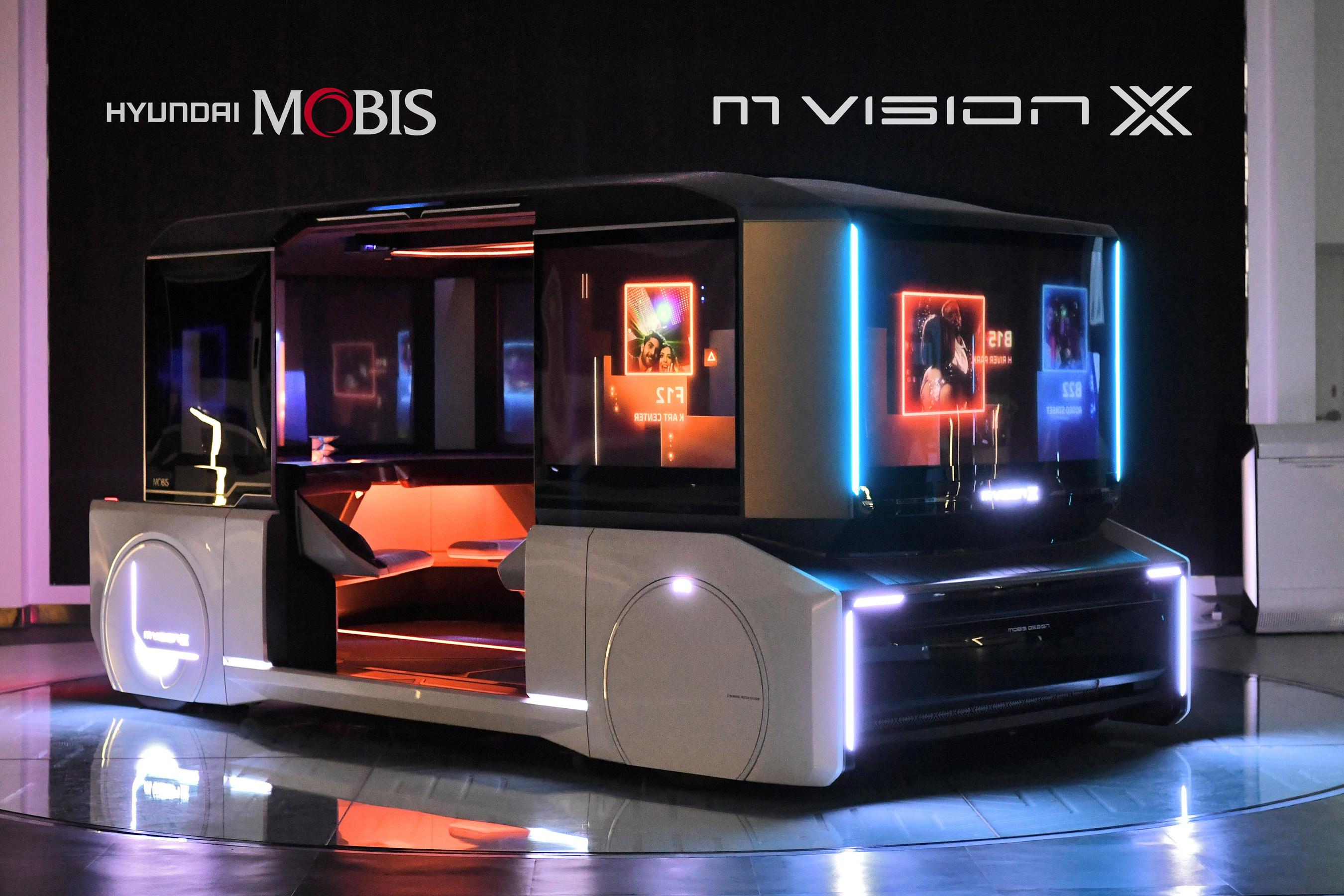 Hyundai Mobis unveils a new mobility concept � m.vision X and m.vision POP