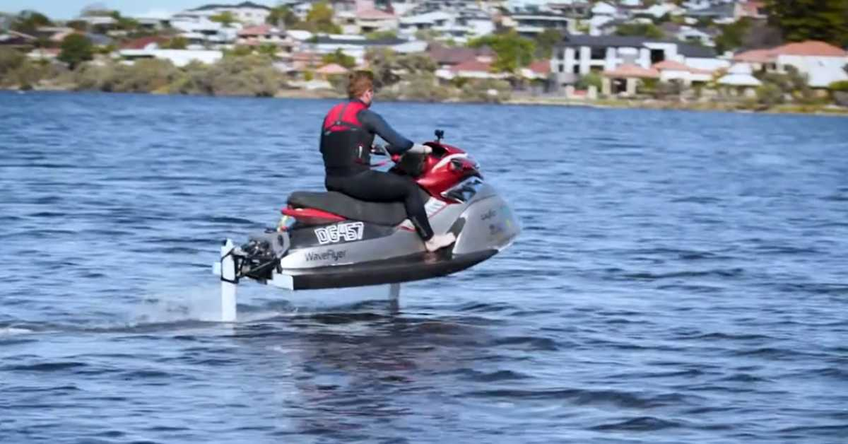 REV develops the first electric hydrofoil personal watercraft