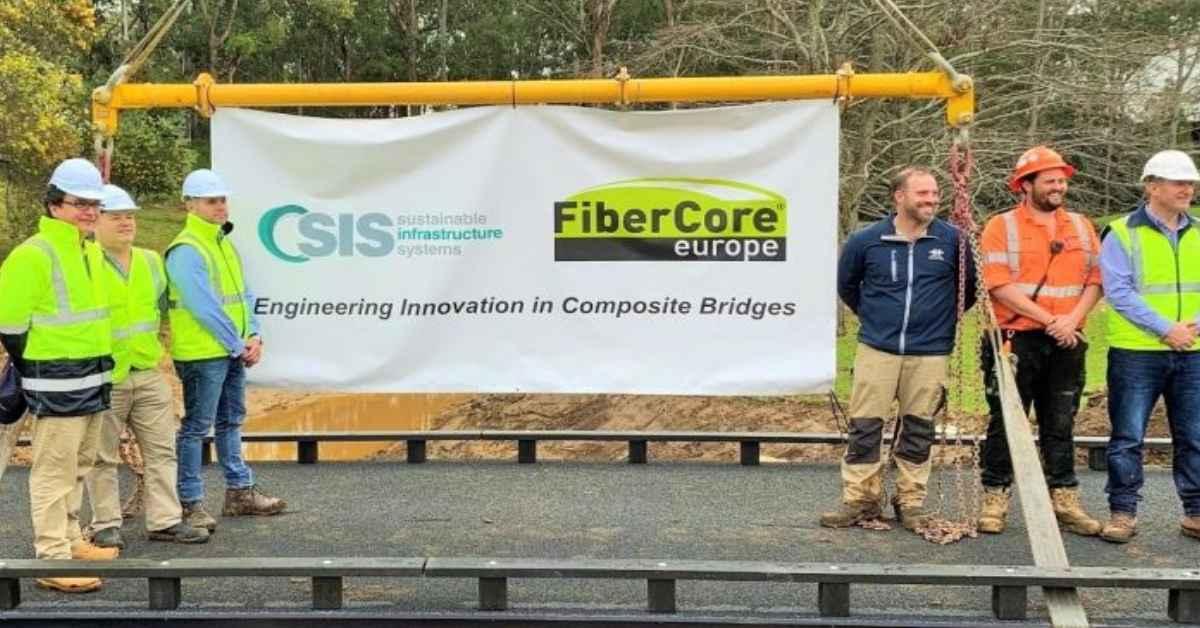 SIS and FiberCore installs FRP Golf Bridges in Australia