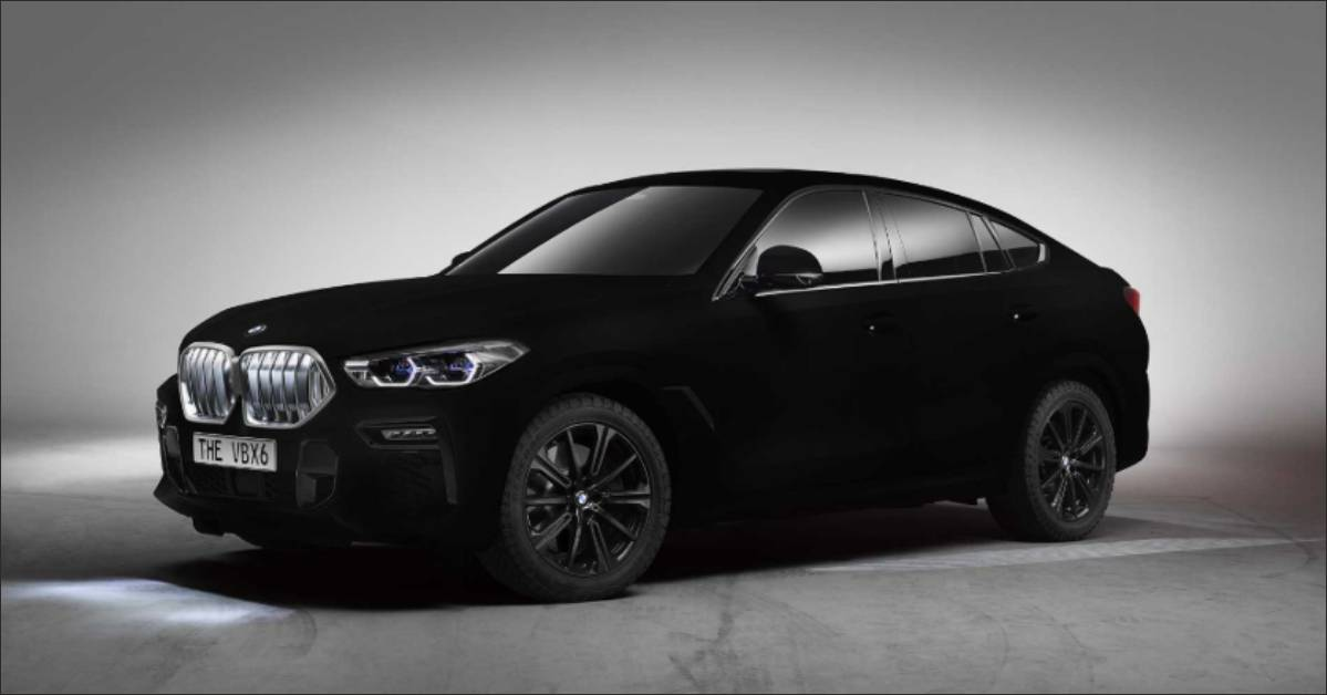 The New BMW X6 is the World's First Vehicle in Vantablack